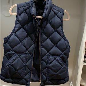 JCrew Navy Puff Vest size Large